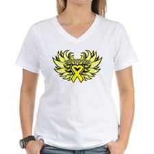 Testicular Cancer Heart Wings Shirt