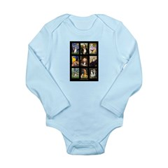 FamousArtBeagle Comp Long Sleeve Infant Bodysuit