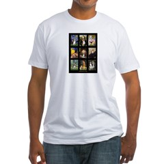 FamousArtBeagle Comp Fitted T-Shirt
