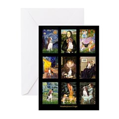 FamousArtBeagle Comp Greeting Cards (Pk of 20)
