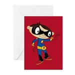 Cute Superhero Boy Greeting Cards (Pk of 10)