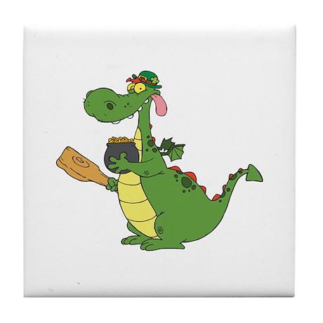 Saint Patrick's Day Dragon Tile Coaster