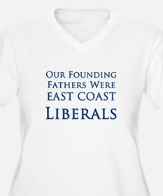 East Coast Liberals - Women's Plus Size V-Neck Tee