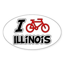 I Love Cycling Illinois Decal