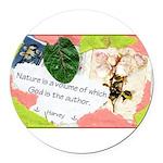 Nature Quote Collage Round Car Magnet