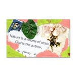 Nature Quote Collage Rectangle Car Magnet