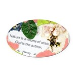 Nature Quote Collage Oval Car Magnet