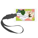 Nature Quote Collage Large Luggage Tag
