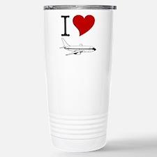 I Love Planes Stainless Steel Travel Mug
