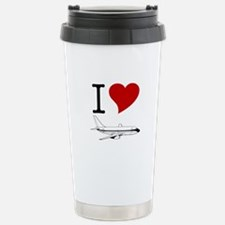 I Love Planes Travel Mug