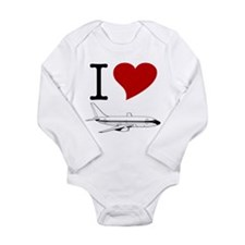 I Love Planes Baby Bodysuit - Long Sleeve