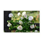 Romantic White Rose 20x12 Wall Decal