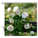 Romantic White Rose Shower Curtain