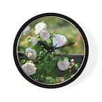 Romantic White Rose Wall Clock