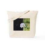 Romantic White Rose Tote Bag