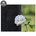 Romantic White Rose Puzzle