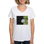 Romantic White Rose Women's V-Neck T-Shirt