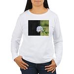 Romantic White Rose Women's Long Sleeve T-Shirt