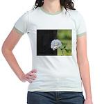 Romantic White Rose Jr. Ringer T-Shirt
