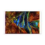Angel Fish Rectangle Car Magnet