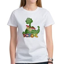 Cute Green School Dragon Tee