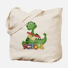 Cute Green School Dragon Tote Bag