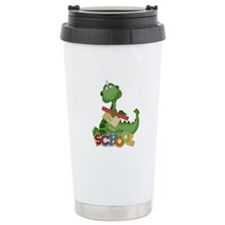 Cute Green School Dragon Travel Mug