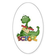 Cute Green School Dragon Decal