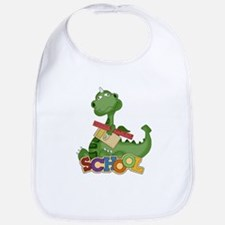 Cute Green School Dragon Bib