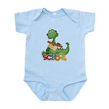 Cute Green School Dragon Infant Bodysuit