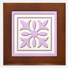 Quilt Patch (Lavender) Framed Tile