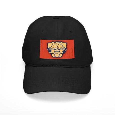 Pug Nerd Black Cap