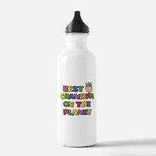 Best Grandpa On The Planeet Water Bottle