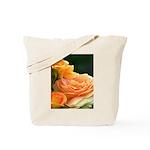 Romantic Peach Roses Tote Bag