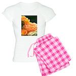 Romantic Peach Roses Women's Light Pajamas