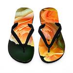 Romantic Peach Roses Flip Flops