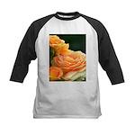 Romantic Peach Roses Kids Baseball Jersey