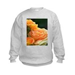 Romantic Peach Roses Kids Sweatshirt