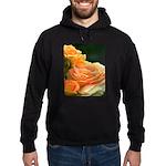 Romantic Peach Roses Hoodie (dark)