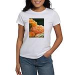 Romantic Peach Roses Women's T-Shirt