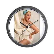 Shower Shenanigans Wall Clock