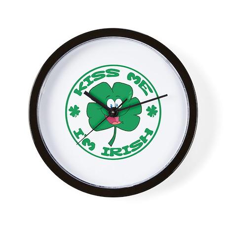 Kiss me I'm Irish Wall Clock