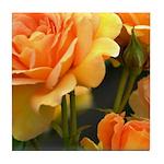 Romantic Peach Roses Tile Coaster