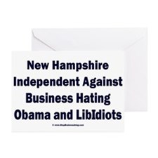 New Hampshire Independent Greeting Cards (Pk of 20