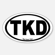 Tae Kwon Doe Oval Decal
