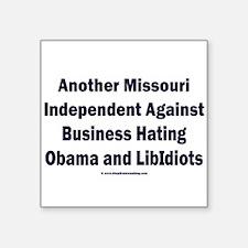 "Missouri Independent Square Sticker 3"" x 3"""