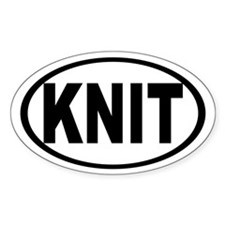 Knit Oval Decal