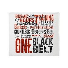 ONE BLACK BELT Throw Blanket