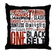 ONE BLACK BELT Throw Pillow