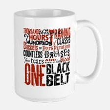 ONE BLACK BELT Large Mug